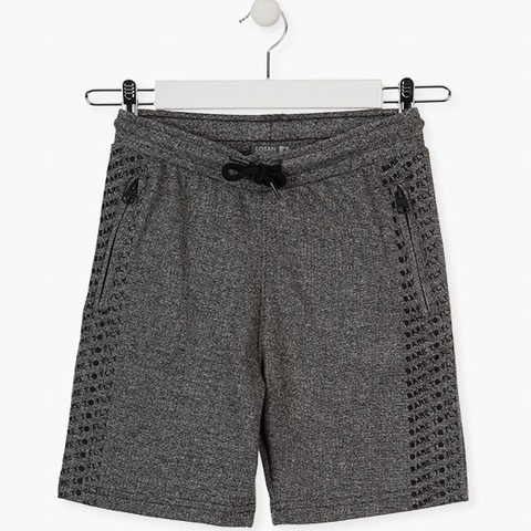 Sparkly plush shorts in grey