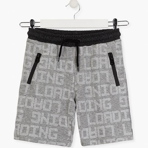Grey shorts with graphic details