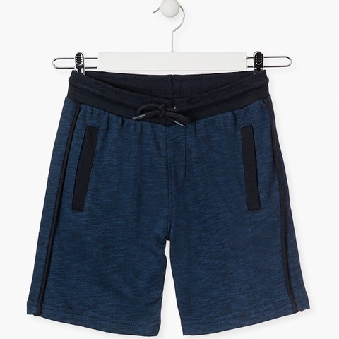 Blue unnapped plush shorts