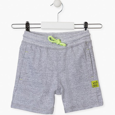 Grey shorts with side pockets