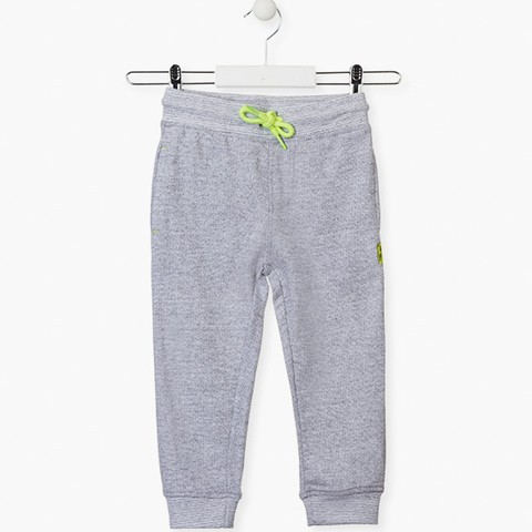 Unnapped plush trousers in grey