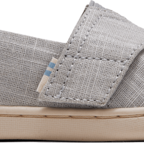 Drizzle Grey Crosshatch Linen Tiny TOMS Classics