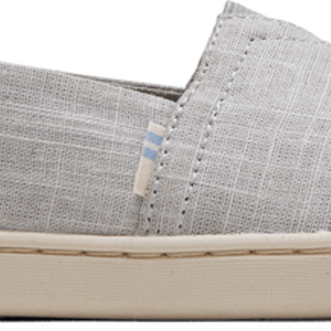 Drizzle Grey Crosshatch Linen Youth Classics