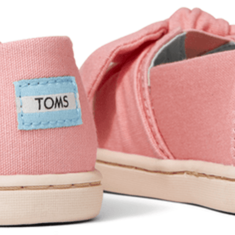 Plant Dye Pink Canvas Bow Tiny TOMS Classics
