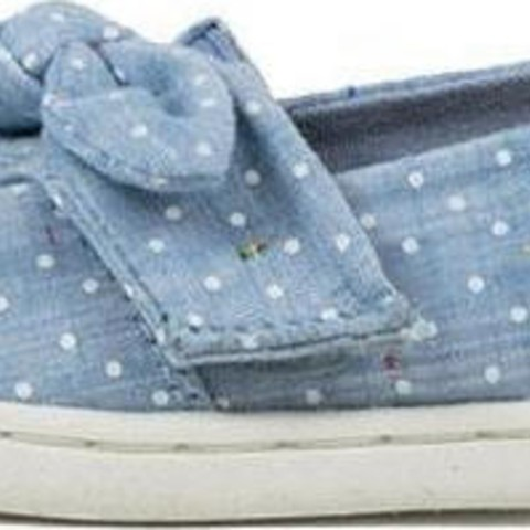 Toms Speckled Chambray Dots Bow Classics 10013299 Γαλάζιο