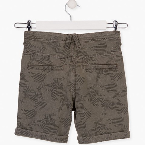 Animal print shorts in green