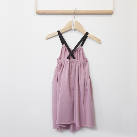 TC DUSTY PASTELS BACKLESS DRESS W/STRAPS KID